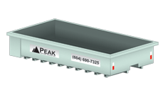 Peak Disposal 12 Yard Waste Disposal Bin