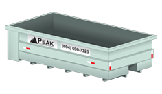 Peak Disposal 20 Yard Waste Disposal Bin