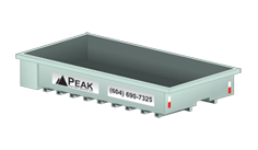 Peak Disposal 8 Yard Rock Box