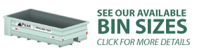Waste disposal bin rentals service bin sizes